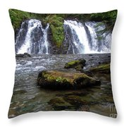 Goldrush Falls Throw Pillow
