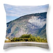 Goldrush Town Dawson City From Yukon River Canada Throw Pillow