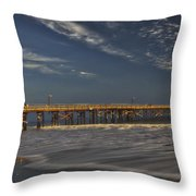Goleta Beach And Pier Throw Pillow