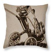 Golf Bag In The Grass  Throw Pillow