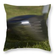 Golf Ball On Tee Hit By Driver Throw Pillow