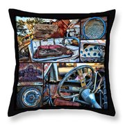 Golf Cart Collage Throw Pillow