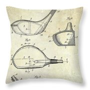 1926 Golf Club Patent Drawing Throw Pillow