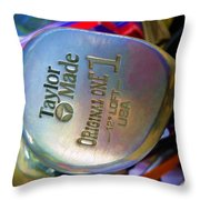 Golf Club Taylor Made Throw Pillow