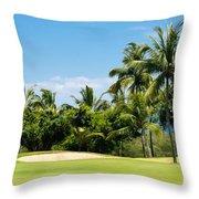 Golf Course Throw Pillow