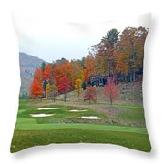Golf Course At Lake Toxaway Throw Pillow