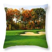 Golf Course, Great Bear Golf Club Throw Pillow