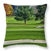 Golf Course Guardians Throw Pillow