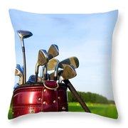 Golf Gear Throw Pillow