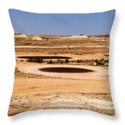 Golf In Dessert  Throw Pillow