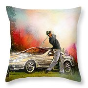 Golf In Gut Laerchehof Germany 03 Throw Pillow