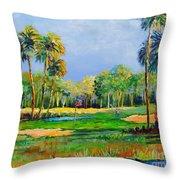 Golf In The Tropics Throw Pillow