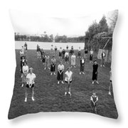 Golf Lessons For Women Throw Pillow