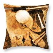 Golf Memorabilia Throw Pillow