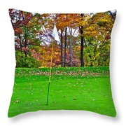 Golf My Way Throw Pillow by Frozen in Time Fine Art Photography
