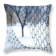 Golf Netting Throw Pillow