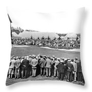 Golf Play At St. Andrews. Throw Pillow