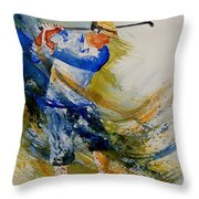 Golf Player Throw Pillow