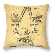 Golf Putter Patent Throw Pillow by Edward Fielding
