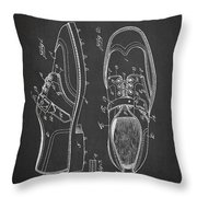 Golf Shoe Patent Drawing From 1927 Throw Pillow