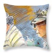 Golfers In Soufflenheim 02 Throw Pillow