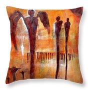 Golgotha Petroglyph Throw Pillow