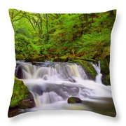 Golitha Falls And River Fowey Throw Pillow