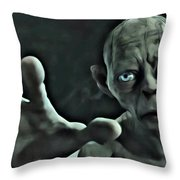 Gollum Throw Pillow