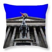 Goma Pop Art Blue Throw Pillow