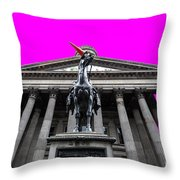 Goma Pop Art Cyan Throw Pillow by John Farnan