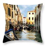 Gondola 158-venice Throw Pillow