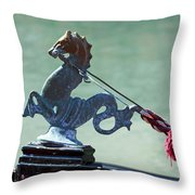 Gondola Cavai Horse Ornament Venice Italy Throw Pillow