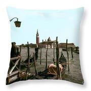Gondola Dock Throw Pillow