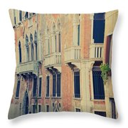Gondola In Venice  Throw Pillow