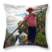 Gondola Ride In City Park New Orleans Throw Pillow