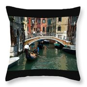 Gondola Ride Throw Pillow