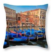 Gondola Row Throw Pillow
