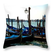 Gondolas At Rest Throw Pillow