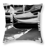 Gondolas Throw Pillow by Luis Alvarenga