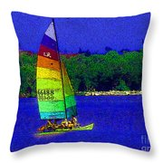 Gone For A Sail Throw Pillow