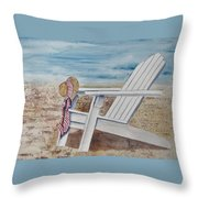 Gone For A Walk Throw Pillow