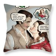 Gone With The Wind Humor Throw Pillow For Sale By Aurelio Zucco