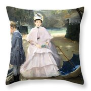 Gonzales' Nanny And Child Throw Pillow