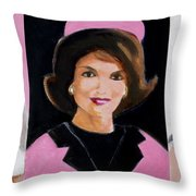 Good And Plenty Jackie O  Throw Pillow by Candace Lovely