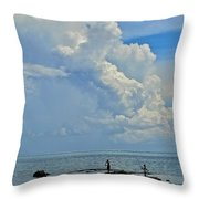 Good Day For Fishing Throw Pillow