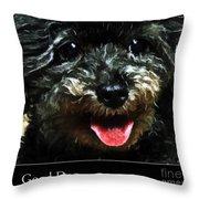 Good Dog . Affiche Throw Pillow
