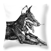 Good Dog Throw Pillow by Michael Volpicelli