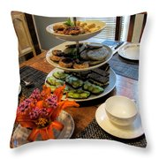 Good Eats In A Lovely Setting Throw Pillow