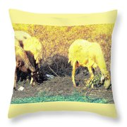 Good Food Is Hard To Find, But We Never Stop Searching  Throw Pillow
