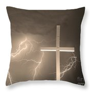 Good Friday In Sepia Throw Pillow
